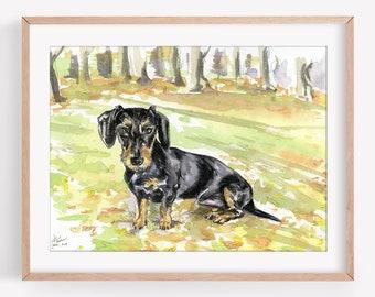 Custom Pet Portrait, Original Watercolour Painting Commission, Pet Portrait, Unique Gifts, Pet Memorial, Commission Illustration,