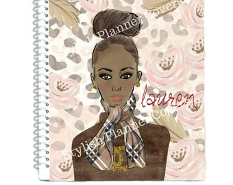 COVER GIRL Planner Cover, Stylish Planner Cover, Glam Planner Girl, For use with Erin Condren(TM) & Happy Planners, Recollection, Cover Girl