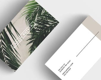 Minimalistic Business Card, Digital Download Card Design, PSD Business Card Design, Instant Download Template, Modern Business Card