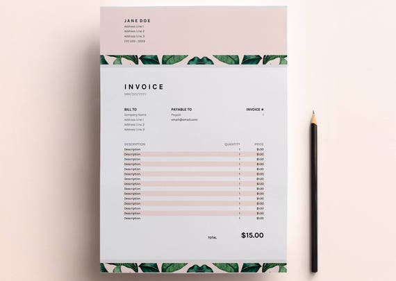 Invoice Template Business Invoice Spreadsheet Google Sheets Etsy - Google sheets business templates