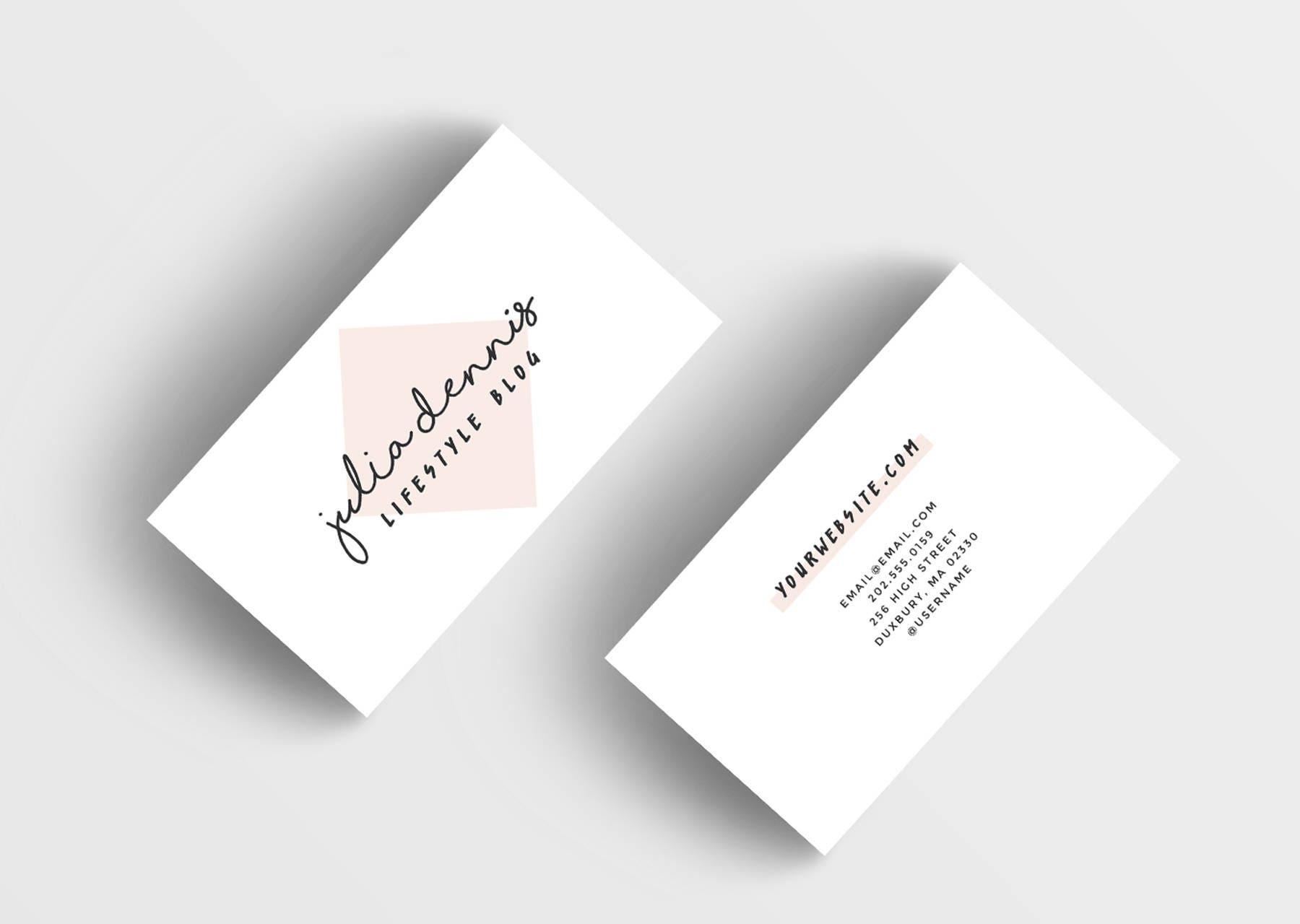 Rosa Visitenkarten-Design individuelle fertig zum Drucken