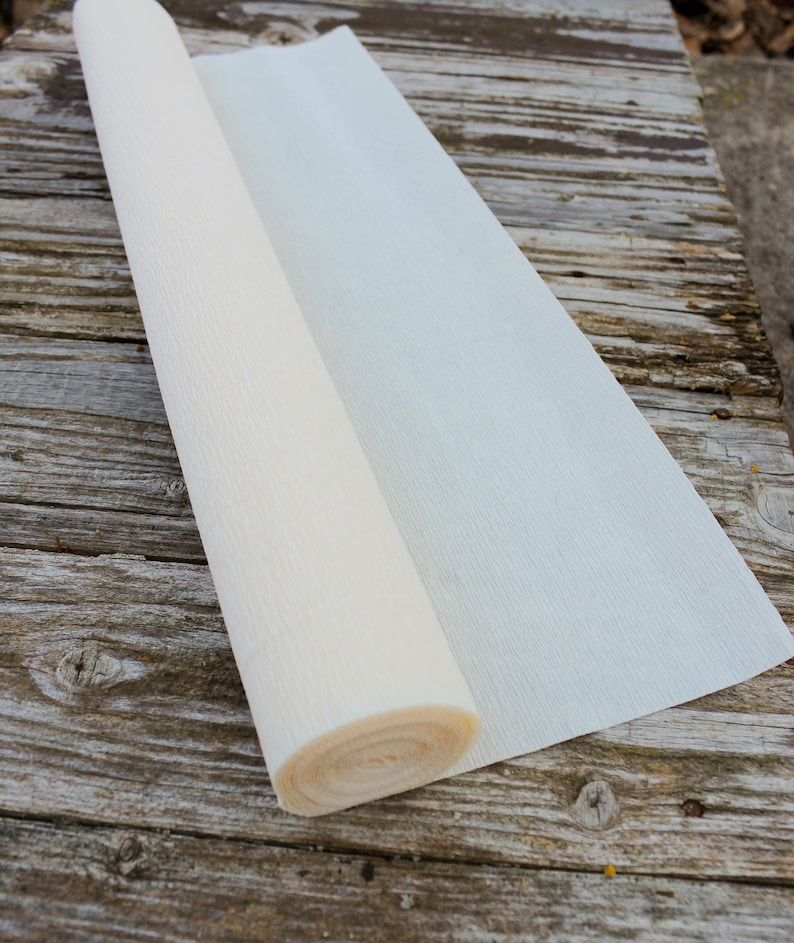 Birthday Decor Italian Ivory Crepe Paper Roll Florist Gift Wrapping Paper Ivory Paper Roll for DIY Projects Paper flower DIY