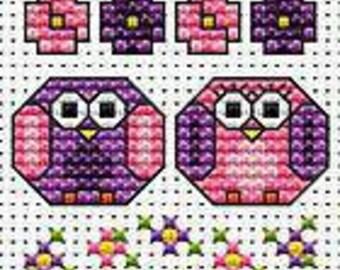 Patchwork Mouse Valentine Cross Stitch Card  Kit from Fat Cat Cross Stitch counted cross stitch valentines card kit needlework card kit