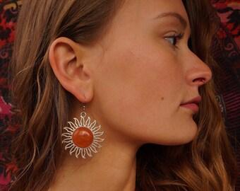 Orange Calcite Earings