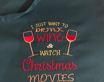 Adult aprons for christmas wine prosecco novelty gift