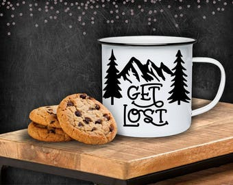 Get lost  10oz stainless steel camp mug