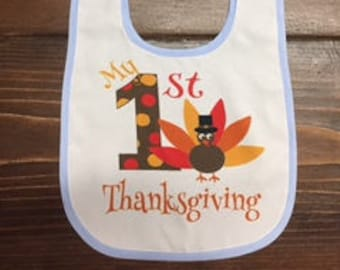 first thanksgiving customized baby bib