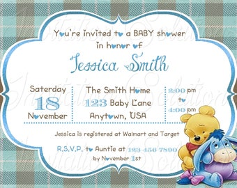 Winnie the pooh baby shower invitations etsy winnie the pooh baby shower invitation pooh bear shower invitation for girl or boy storybook themed baby shower invite filmwisefo