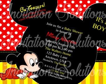 Mickey baby shower etsy baby mickey mouse shower invitation disney themed baby mickey invitation filmwisefo