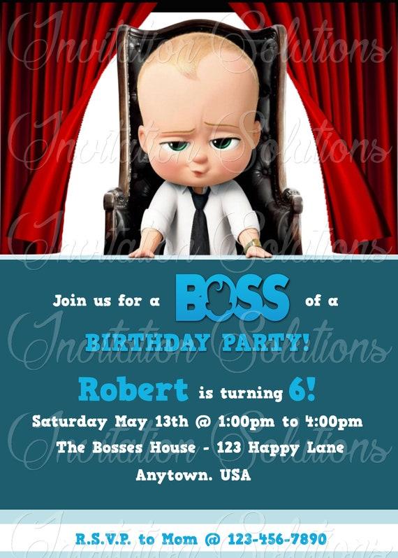 movie boss baby inspired birthday party invitation movie etsy