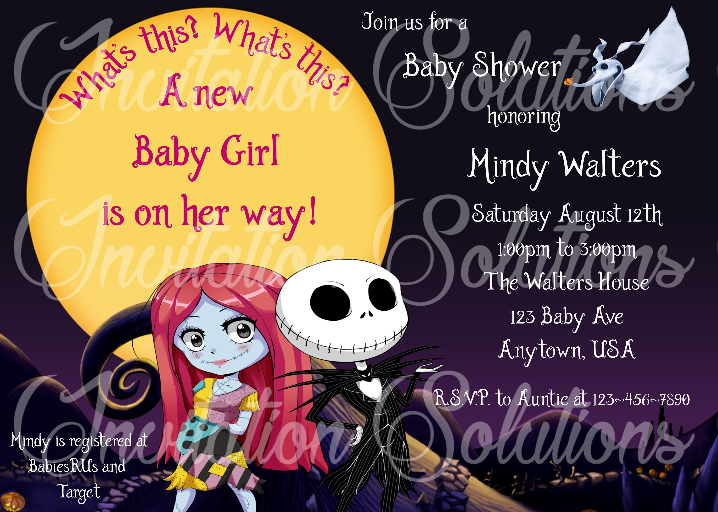 Nightmare Before Christmas Jack and Sally expecting Baby | Etsy