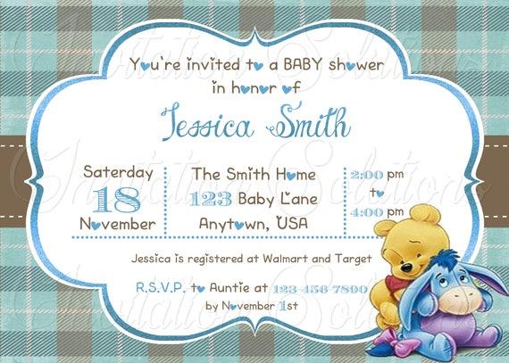 Winnie the pooh baby shower invitation pooh bear shower etsy image 0 filmwisefo