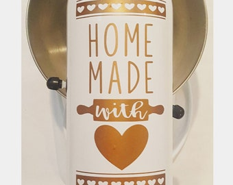 Kitchen Aid Mixer Vinyl Decal Decoration - Home Made with LOVE **FREE SHIPPING