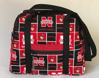 Univ. of Nebraska travel bag / carry-on bag / weekender bag / overnight bag / handbag / quilted bag / college grad gift / graduate gift