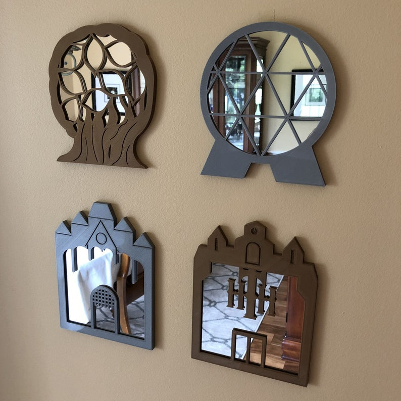22 Disney Gifts for Mom featured by top US Disney blogger, Marcie and the Mouse: Mini Magical Mirrors 4pc Set image 0