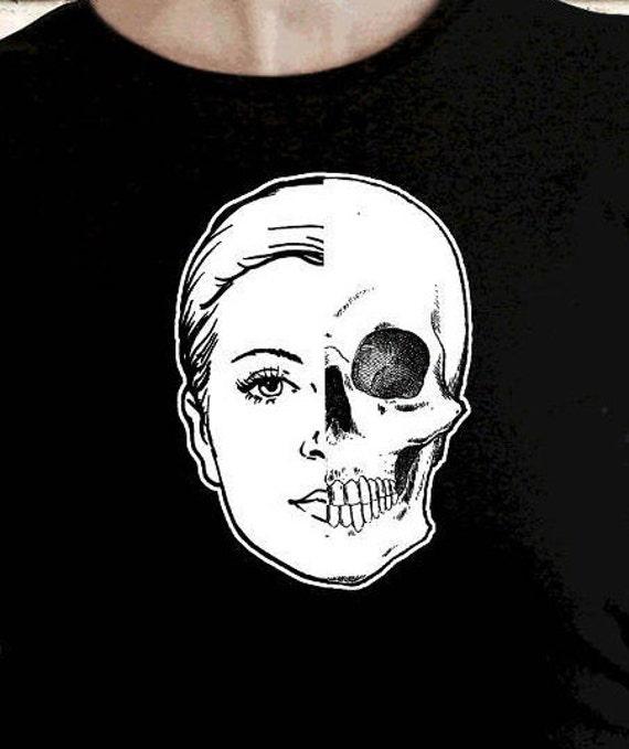 Half Girl Half Skull Etsy