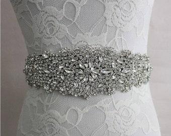 20% OFF! Rhinestone Adorned Bridal Belt/Sash