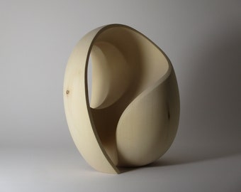 Abstract Wood Sculpture - The Vastness of Insight No.1 - 2021 - Yellow Cedar -  Original, Dynamic, Contemplative, Refined, Gradated, Light