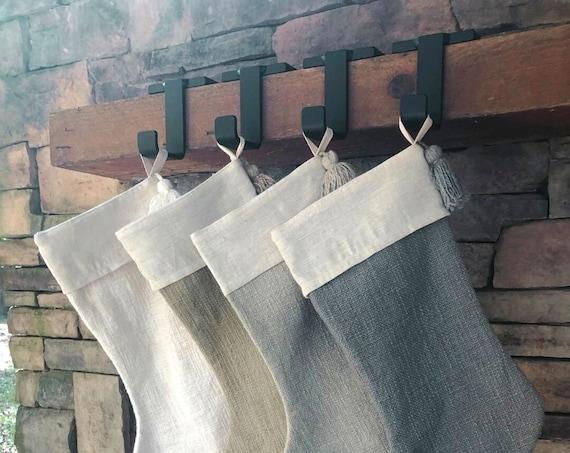 Christmas Stocking Mantel Holder, Stocking Hanger, Stocking Holder For Mantle, Stocking Holder, Christmas Decor, Mantel Stocking Holder