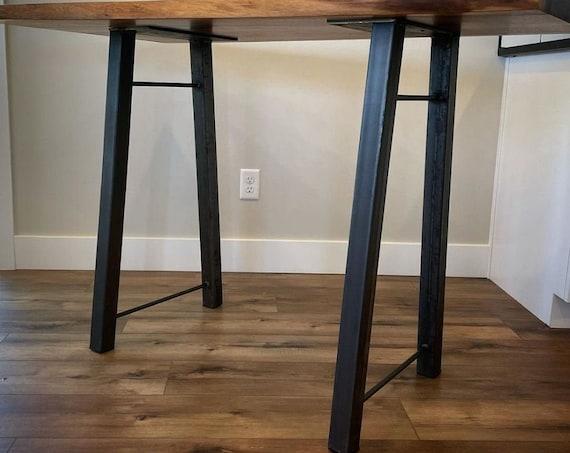 Farmhouse Desk Leg SOLD INDIVIDUALLY, A Frame Table Leg, Home Office Desk Legs, Black Table Legs, Modern Metal Desk Legs, Handmade Desk Legs