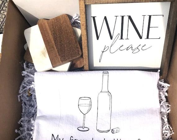 Wine Lovers Gift Box, Wine Gift, Wine Tumbler, Wine Gift Box, Wine Gift Basket, Wine Gifts for Women, Wine Gifts for Her, Wine