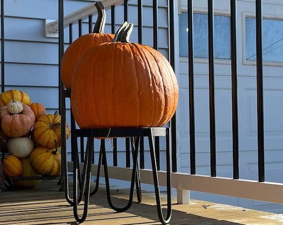 """12"""" Tall Pumpkin Display Stand, Halloween Pumpkin Decoration, Halloween Decor, Front Porch Decor, Porch Decorations, Fall Decor, Mum Planter"""