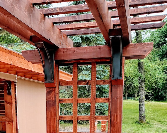 """3"""" wide bracket with double curved support bars - SOLD INDIVIDUALLY"""