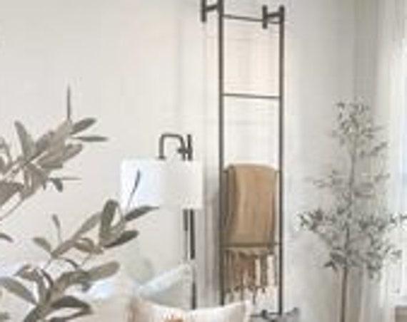 Wall Mounted Iron Blanket Ladder, Blanket Storage, Fall Décor, Metal Blanket Ladder, Livingroom Décor, Blanket Ladder, Home Accents