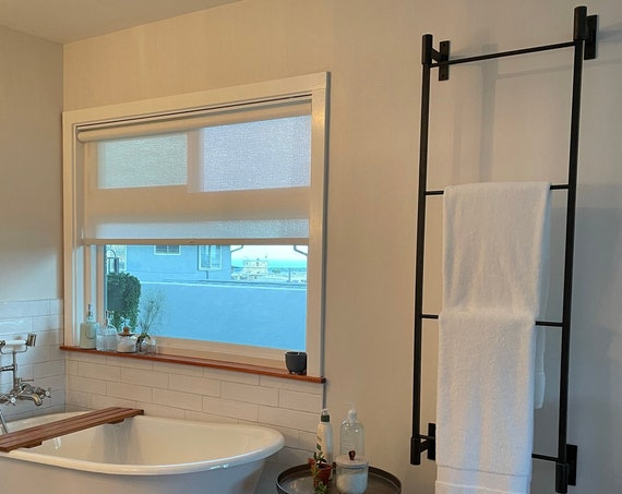 Bathroom Towel Rack, Farmhouse Bathroom Wall Decor, Bathroom Towel Storage, Modern Bathroom Ladder, Guest Bath Decor, Master Bathroom Design