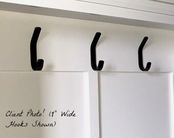 Pre-drilled Single wall hooks- sold in sets of 2