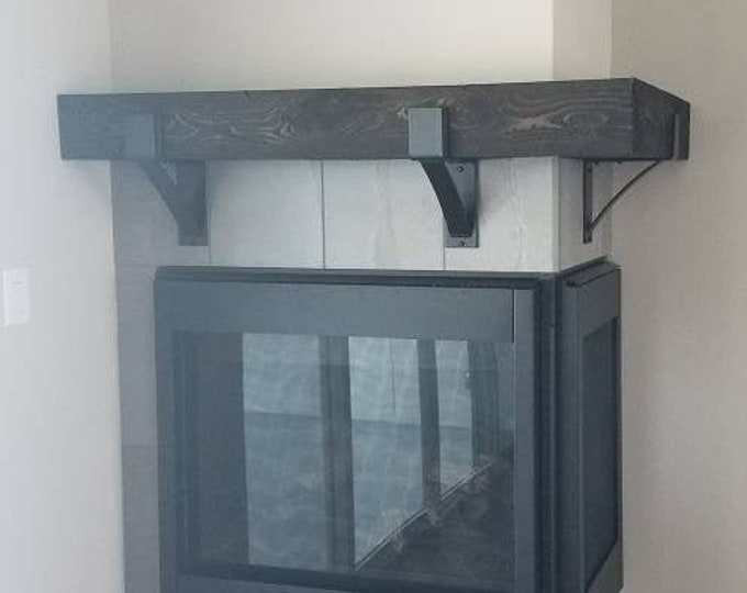 """Classic Mantel Brackets 3"""" wide with 2"""" wide curved support bar"""