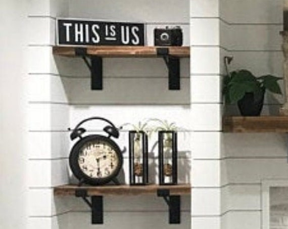 """Farmhouse """"Z"""" shelf bracket with support bar - SOLD INDIVIDUALLY"""