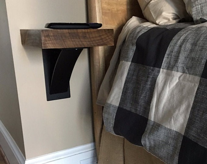 """Industrial Shelf Brackets choose from 4"""" wide with 3"""" wide curved support bar or 3"""" wide with 2"""" wide curved support - Bestseller"""