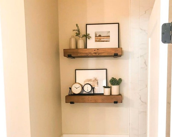 """The Earl 1"""" Wide """"J"""" Shelf Bracket with 1"""" Lip - SOLD INDIVIDUALLY"""