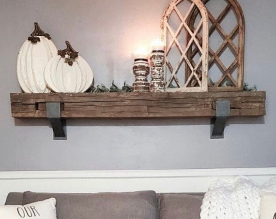"""The Kudlick Farmhouse 4"""" Shelf Mantel Brackets with 3"""" curved support bar - Sold individually"""