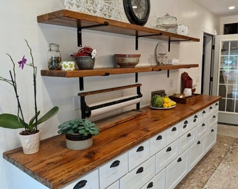"""1 1/2"""" wide  Metal Shelf Bracket with 1"""" Lip - SOLD INDIVIDUALLY"""