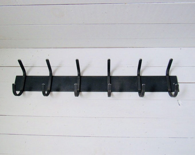 "Wall Mounted Coat Rack With Hooks 3"" wide with 1/2"" wide hooks - Bestseller"