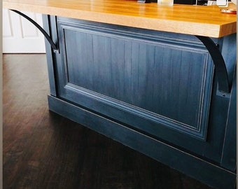 """Industrial Shelf Bracket choose from 4"""" wide with 3"""" wide curved support bar or 3"""" wide with 2"""" wide curved support - Bestseller"""