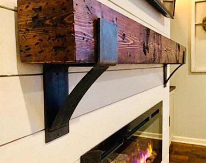 Fireplace Mantel Bracket, Fireplace Mantel Corbel, Steel Mantel Corbel, Farmhouse Mantle Bracket, Wood Mantel Bracket, Rustic Mantel Bracket