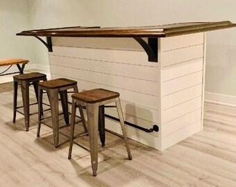 "4"" Wide With 3"" Wide Support, Metal Industrial, Book Shelf Bracket, Modern Farmhouse Kitchen Shelf Bracket Decorative, Shelf Support Bracket"