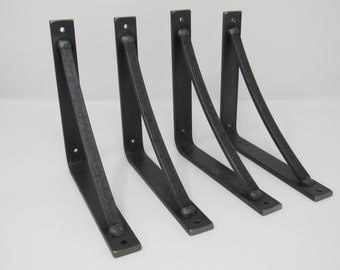 "1"" wide brackets with 1/2"" wide curved support bar"