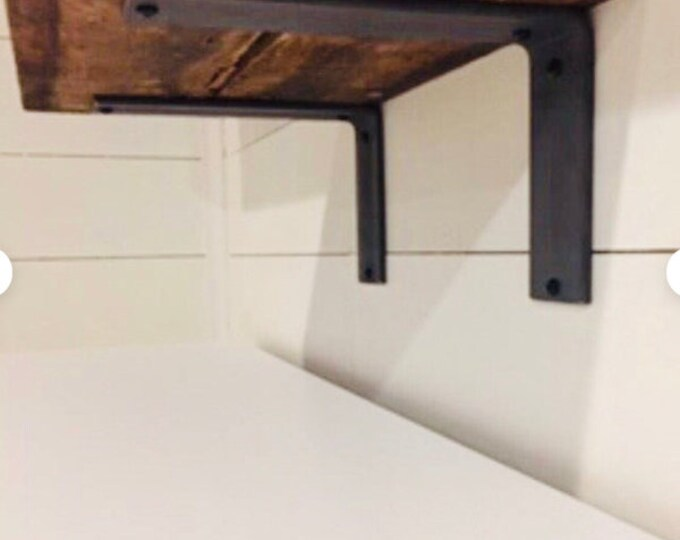 """6"""" Wide Metal """"L"""" Support Bracket- SOLD INDIVIDUALLY"""