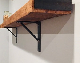 """2"""" Wide """"L"""" Bracket with Solid Square Support Bar - SOLD INDIVIDUALLY"""