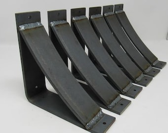 "Rustic Brackets Available in 3 sizes (2"" with 2"" support bar/ 3"" with 3"" support bar/ 4"" with 4"" support bar)"