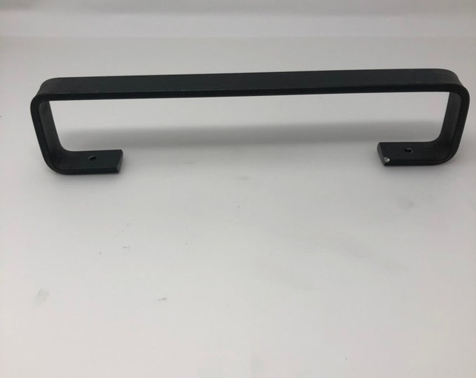 Black Handles and Pulls, Long Door Handle for Closet, Long Cabinet Pull, Long Drawer Pull, Steel Handle Pulls, Rustic Handles for Cabinets