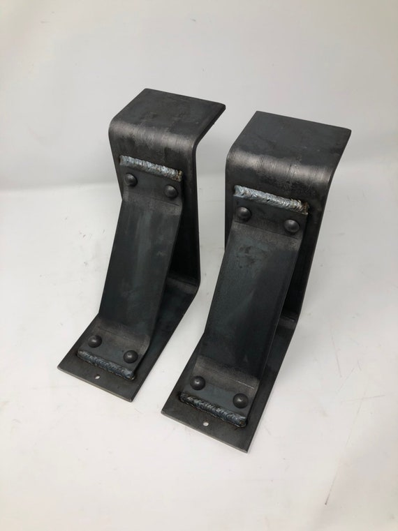 Modern Farmhouse Brackets Corbels 4 Wide With 3 Support Bar With Rivets