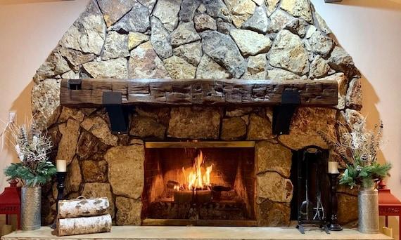"5"" wide Fireplace Bracket, SOLD INDIVIDUALLY, Mantel Decor, Rustic Mantel, Farmhouse Decor, Mantel Shelf, Metal Shelf Bracket Industrial"