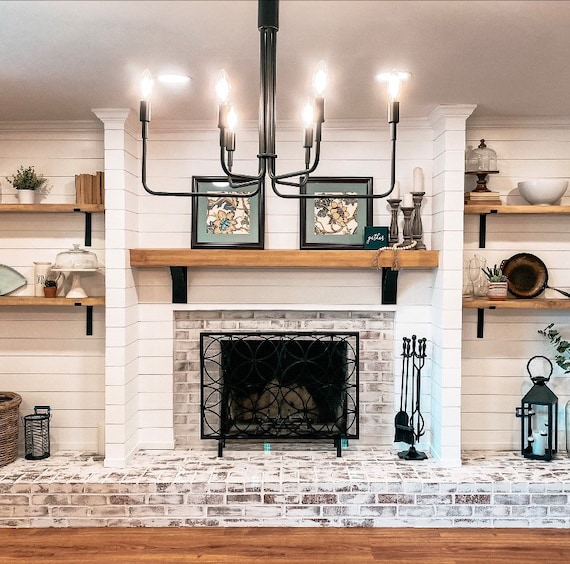 """The Albany Farmhouse Shelf Bracket - 4"""" wide with 3"""" wide curved support bar - Sold Individually"""