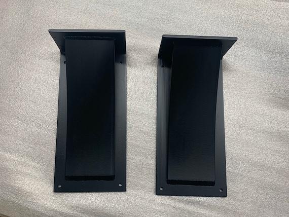 Heavy Duty Shelf Brackets Black, Industrial Shelf Bracket, Floating Shelf Bracket Heavy Duty, Industrial Black Shelf Bracket Made in USA