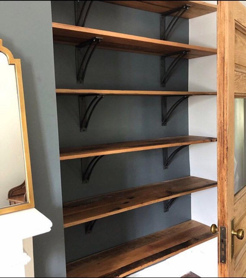 Iron Shelf Bracket Steel Shelf Bracket Industrial Shelf Bookshelf Industrial Rustic Modern Shelf Modern Industrial Shelf Brackets